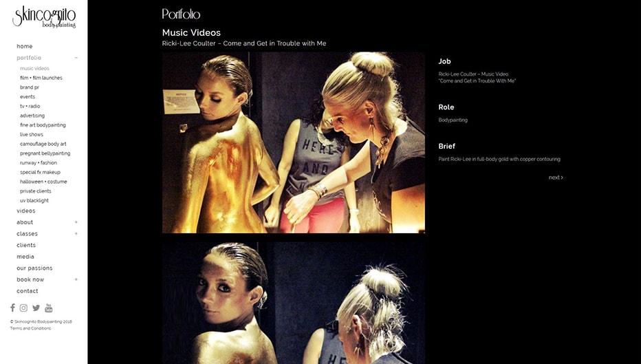 Skincognito portfolio page