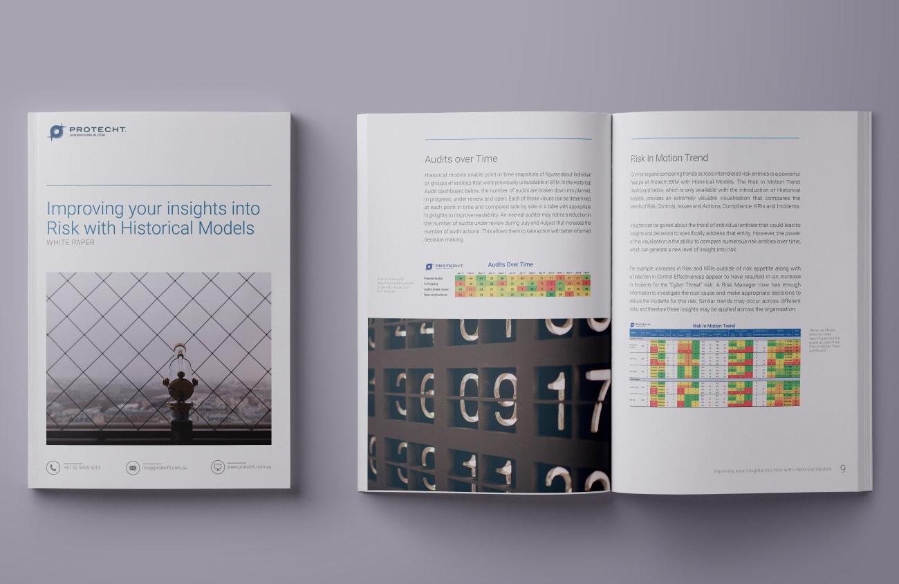 Protecht whitepaper ebook design