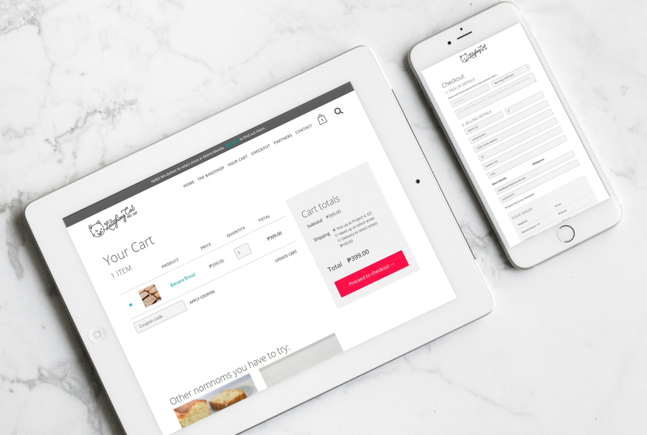 Website eCommerce checkout responsive design