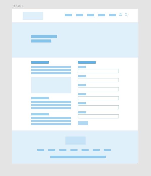 TLCB Landing Page wireframe