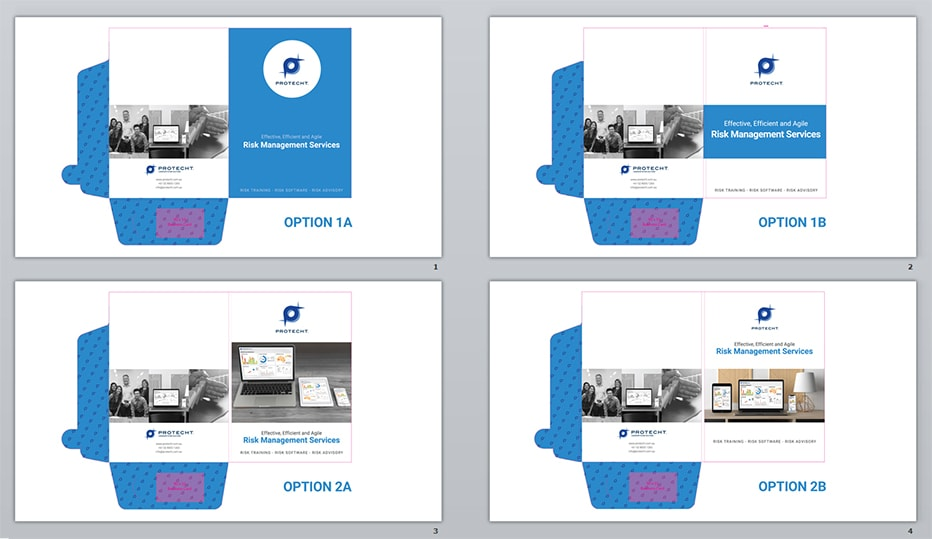 Presentation folder design options